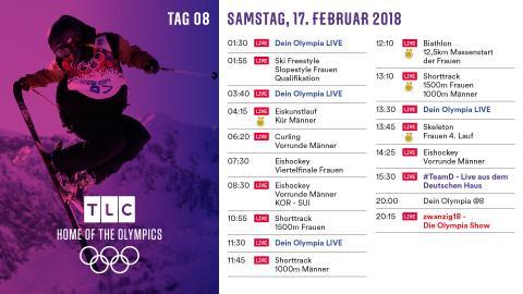 Olympia Programm: Samstag 17. Februar