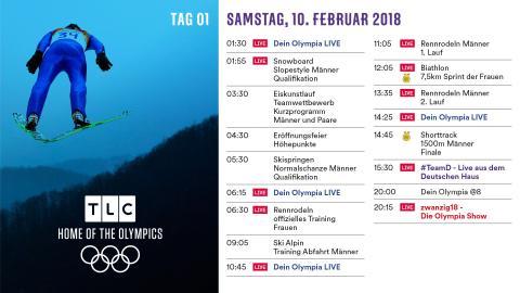 Olympia Programm: Samstag 10. Februar