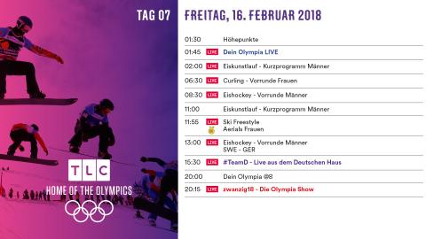 Olympia Programm: Freitag 16. Februar