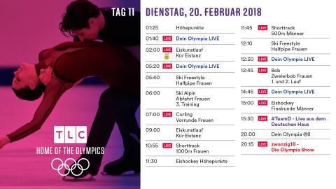 Olympia Programm: Dienstag 20. Februar