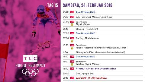 Olympia Programm: Samstag 24. Februar