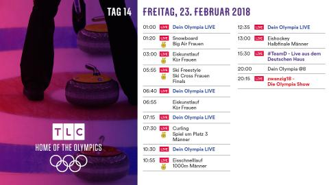 Olympia Programm: Freitag 23. Februar
