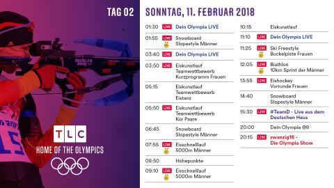 Olympia Programm: Sonntag 11. Februar